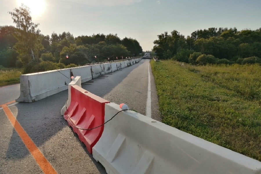 В Мичуринском районе начался ремонт моста через реку Борок