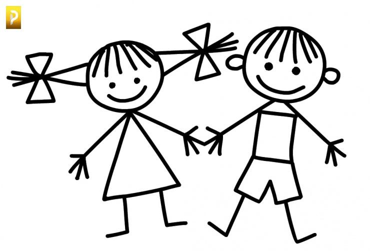 Рисунок раскраска дети
