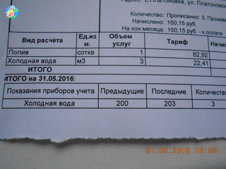 тариф на воду 2016 кемеровская область капусты свежих овощей
